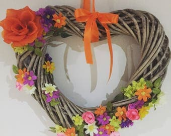 Mothers day gift. Wicker heart. Decorated heart. Gift for Mother's Day. Gifts for mum. Love hearts. Wicker hearts. Mum. Mother's Day gift.