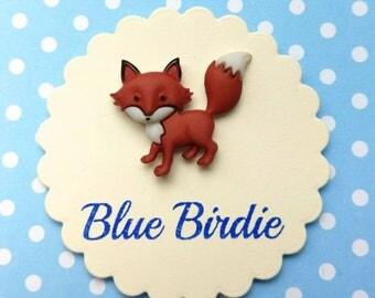 Fox brooch fox jewelry fox badge running fox brooch fox jewellery fox jewelry fox gift small fox brooch woodland animals jewelry