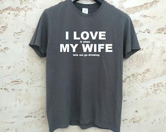 Husband Gift, Mens T-Shirt, Funny T-Shirt for Men, Christmas Gift for Men, Gift for Him, Mens Gray T-Shirt, Husband T-Shirt, Gray Shirt