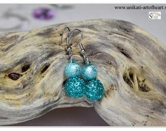 Crochet Wire Earrings / Wire Jewelry / Wire Earring / Turquoise Earring / Dangle Earring / Crochet Jewelry / Gift for Women / Modern Earring