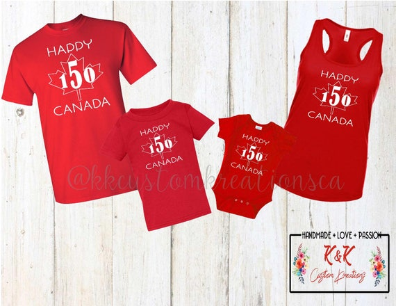 Canada 150 Family Shirst bykkcustomkreationsca