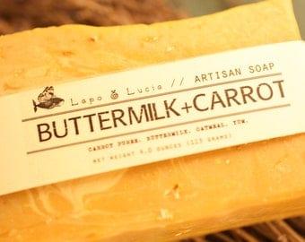 Buttermilk+Carrot   Artisan Soap   Handmade Soap