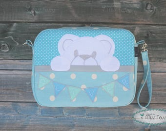Baby  diaper clutch | Diaper bag with teddy bear