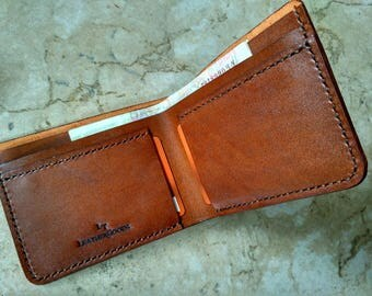 Handcrafted wallet for him gift on Holiday