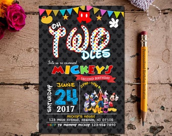Mickey Mouse Invitation, Mickey Mouse Clubhouse Invitation, Mickey Mouse Invitation, Mickey Invitation, Mickey Mouse Party, Birthday invite