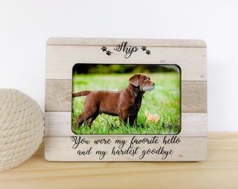 Personalized Pet Loss Memorial Frame Pet Loss Gift Cat Loss Frame Pet memorial Gift Cat Sympathy Gift Pet Memorial