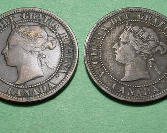 Canada Large Cent X's 2 1876-H and 1882-H <>ETW6949