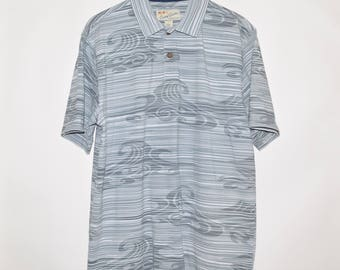 Rare Vintage VTG 90's Crazy Shirts Hawaii Cotton Polo Shirt Large