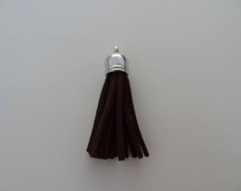 Brown tassel fringe