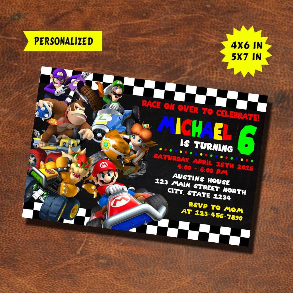 Mario Kart Invitation / Mario Kart Birthday / Mario Kart