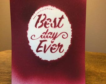 Handpainted Cards for Wedding Decor and Gifts, variety of messages available