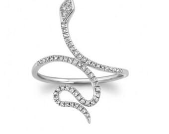 Snake Jewelry, Snake rings, Rings, Gold rings, 14K Gold Ring, Diamond ring, Serpents, Rose Gold  Ring, Black ring, White Gold ring, Jewelry