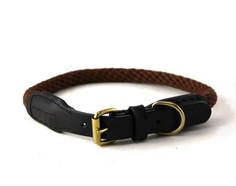 Brown Rope Dog Collar