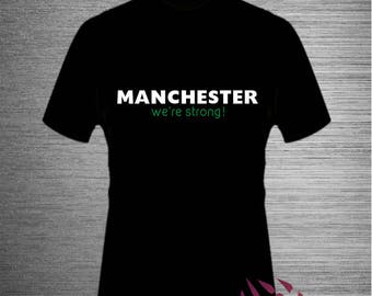 MANCHESTER WE're STRONG T Shirt Robbie Williams New lyrics | One Love Manchester Concert  Coldplay Take That all Stars Support Manchester!!!