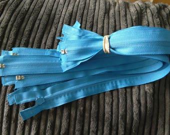 Zippers, zips, nylon zips, 16 inch long zippers, open end zips, 3mm wide zips, multi colours of zips