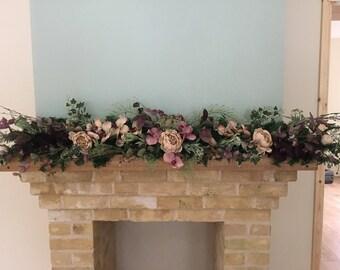 Luxury Handmade Artificial wedding garland, vintage pink wedding flower garland, silk orchid flowers, wedding centrepiece.