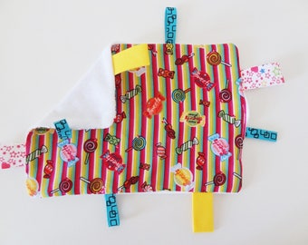 """Flat blanket, labels, fabric """"candies"""""""