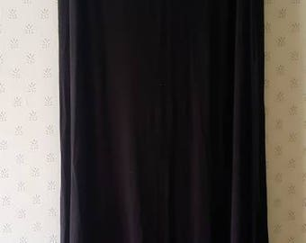 High waisted extra long black collum skirt. Stretch knit black maxi skirt witches skirt size large