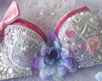 Embellished rave bra costume