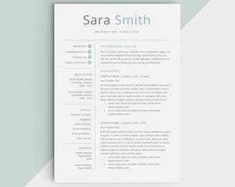 Resume Covers Excel Creative Resume  Etsy Resume Template For Openoffice Excel with Sample Of Good Resume Pdf  Resume Template Word Free Word