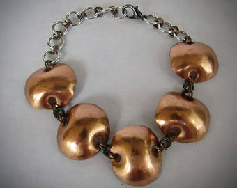 Copper Dot Chain Bracelet