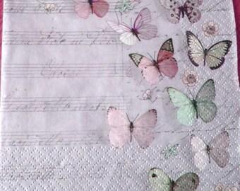 Flight of butterflies paper towel