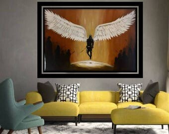 "Original Painting ""I bring forth a Sword"""