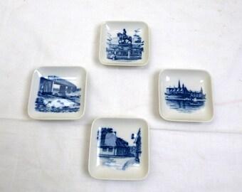 Royal Copenhagen Denmark Square Plates 2985 - Set Of 4