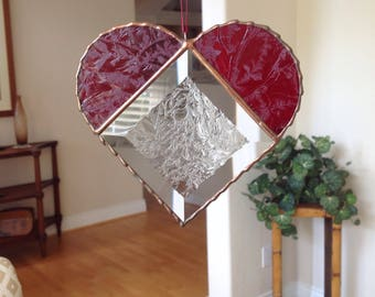 Vintage Embossed Stained Glass Suncatcher