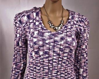 Women sweater, Wool Sweater, knitted sweater, Heather, purple sweater, hand made sweater sweater winter warm sweater, sweater 0024