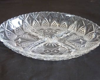 A Beautiful Cut Glass Bowl. Perfect for Snacks, Sweets or Dips
