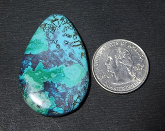 Awesome Natural Azurite turquoise Cabochon,Loose Stone,Gemstone,Gorgeous Cabochon Excellent Gemstone 100%Natural 66.10cts.(44x28x8)mm