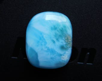 Rare! Awesome Larimar loose gemstone Cabochons Very Gorgeous Designer Excellent Quality 100% Natural handmade Gemstone 17.75cts (19x15x5)mm