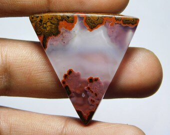 A+++ quality Moroccan Seam Agate gemstone Awesome loose gemstone Excellent Cabochons handmade Gemstone for jewelry use 35.55cts (35x34x4)mm