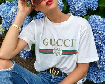 Gucci inspired Vintage logo Tee