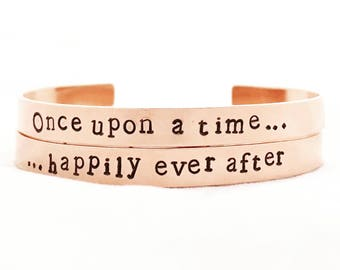 Once upon a time...happily ever after set. Bracelets x2