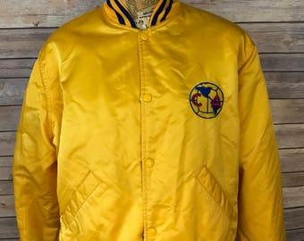 Vintage CA Club America Soccer Embroidered Satin Jacket (L)