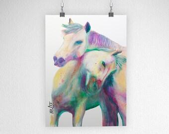 Art Print: Horses