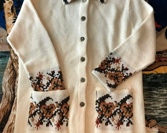 Vintage 70s JCPenny button up cardigan