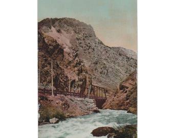 UTAH: First Bridge, Ogden Canyon, Vintage Divided-Back Postcard 1907-1914