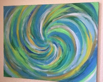 Original Abstract Painting titled: The Earth