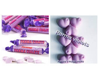 parma | violet | wax melts | highly scented | sweet scent | wax tarts | scented candle | soybwax | sample pack