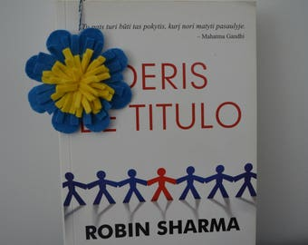 Blue flower  bookmark.