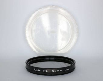 Kenko 67mm PL Lens Filter in Original Case - 67mm Circular Polarizing Filter for Photography