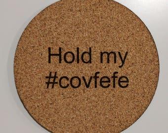 COVFEFE coasters - set of four #covfefe cork coasters
