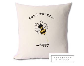 Bumble Bee Cushion Lover Gift Keeper Country Fashion Cream