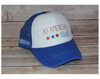 All American Stud Toddler Trucker Hat