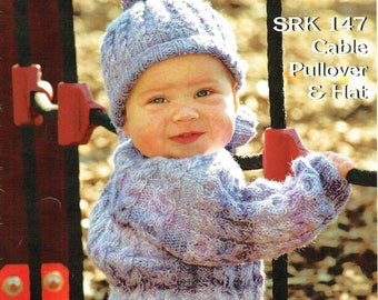 SRK 147 - Child's Cable Pullover and Hat