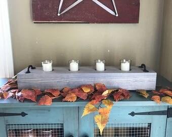 Centerpiece - Candle Holder - Rustic Decor - Farmhouse - Farmhouse Decor - Votive Candle - Centerpiece for Wedding - Centerpiece for Table