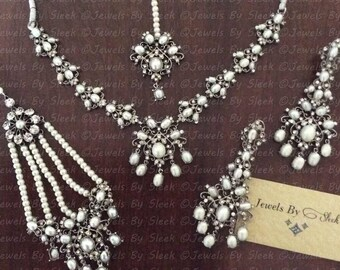 Real pearl delicate set